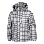 Karbon Seth Boys Ski Jacket, Arctic-White-Black Print, medium