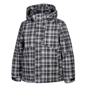 Karbon Seth Boys Ski Jacket, Black-Arctic-White Print, medium
