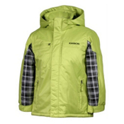 Karbon Ryan Boys Ski Jacket, Lime-Black Axis, medium