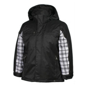 Karbon Ryan Boys Ski Jacket, Black-Arctic White Axis, medium