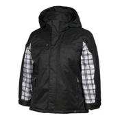 Karbon Ryan Boys Ski Jacket, Black-Arctic White Axis, medium