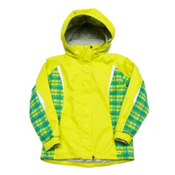 Karbon Loreali Girls Ski Jacket, Lime-Lime Quartz-Arctic White, medium