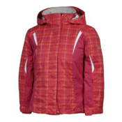 Karbon Loreali Girls Ski Jacket, Raspberry Quartz-Raspberry-Arctic White, medium