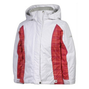 Karbon Loreali Girls Ski Jacket, Arctic White-Raspberry Quartz-Raspberry, medium