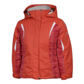 Karbon Loreali Girls Ski Jacket, Sherbert-Raspberry Quartz-Arctic White, medium