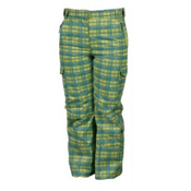 Karbon Sierra Girls Ski Pants, Lime-Arctic White-Print, medium