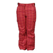 Karbon Sierra Girls Ski Pants, Raspberry-Arctic White-Print, medium