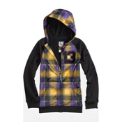 Burton Bonded Kids Hoodie, Sizzurp Revolt Plaid, medium