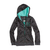 Burton Scoop Kids Hoodie, True Black Confetti Print, medium