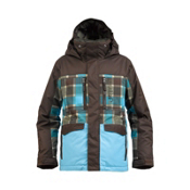 Burton Distortion Boys Snowboard Jacket, Grizzly-Norsk Revolt Plaid, medium