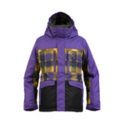 Burton Distortion Boys Snowboard Jacket, Sizzurp-Sizzurp Revolt Plaid, medium