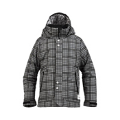 Burton Melody Girls Snowboard Jacket, True Black Punkstar Plaid, medium