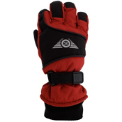 Grandoe Icon Kids Gloves, Race Red-Black-Silver, medium
