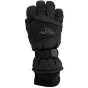 Grandoe Icon Kids Gloves, Black-Grey, medium
