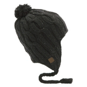 Coal Highland Flap Hat, Black, medium