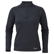 Marker Active Zip-T Womens Mid Layer, Black, medium