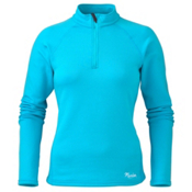 Marker Active Zip-T Womens Mid Layer, Sky, medium