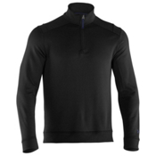 Under Armour Rhyme Stone 1/4 Zip Mens Mid Layer, Black-Shadow, medium