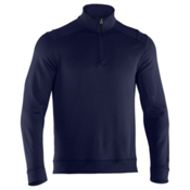 Under Armour Rhyme Stone 1/4 Zip Mens Mid Layer, Shadow-Black, medium