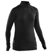 Under Armour EVO CG Side Zip Womens Mid Layer, Black-Mermaid, medium
