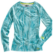 Under Armour Base 2.0 Avalanche Crew Womens Long Underwear Top, Mermaid-Swallowtail-Print-Sulfur, medium