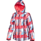 O'Neill Abalone Womens Insulated Snowboard Jacket, Red Aop, medium