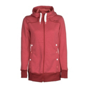 O'Neill Sparkle Fleece Womens Hoodie, Society Red, medium