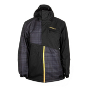 O'Neill Theory Mens Insulated Snowboard Jacket, Black Aop, medium