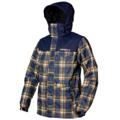 O'Neill Grid Mens Insulated Snowboard Jacket, Blue Aop-Blue, medium