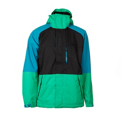 O'Neill District Mens Insulated Snowboard Jacket, Simply Green, medium