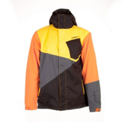 O'Neill Tilted Mens Insulated Snowboard Jacket, Chrome Yellow, medium