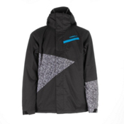 O'Neill Tilted Mens Insulated Snowboard Jacket, Black Out, medium