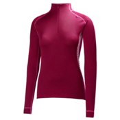 Helly Hansen Dry Dynamic 1/2 Zip Womens Long Underwear Top, Red Grape, medium