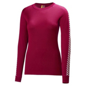 Helly Hansen Dry Original Womens Long Underwear Top, Red Grape, medium