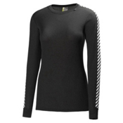 Helly Hansen Dry Original Womens Long Underwear Top, Black, medium
