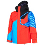 Volcom Ace Insulated Boys Snowboard Jacket, Orange, medium