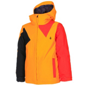 Volcom Impact Insulated Boys Snowboard Jacket, Orange Burst, medium