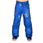 Volcom Launch Insulated Kids Snowboard Pants, Sublimated Denim, medium