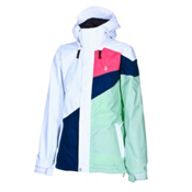 Volcom Cremini Womens Shell Snowboard Jacket, White, medium