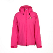Volcom Threat Womens Insulated Snowboard Jacket, Shocking Pink, medium