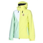 Volcom Threat Womens Insulated Snowboard Jacket, Sparkler, medium