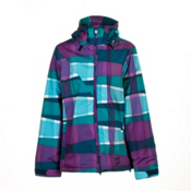 Volcom Threat Womens Insulated Snowboard Jacket, Scrambled Stripe Ink, medium