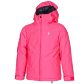 Volcom Bird Insulated Girls Snowboard Jacket, Shocking Pink, medium