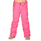 Volcom Tweet Insulated Girls Snowboard Pants, Shocking Pink, medium