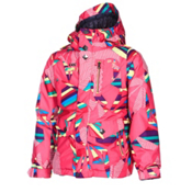 Volcom Penny Insulated Girls Snowboard Jacket, Scattered Stone Stripe, medium