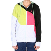 Volcom Nepeta Fleece Full Zip Womens Hoodie, White, medium