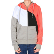 Volcom Nepeta Fleece Full Zip Womens Hoodie, Sparrow, medium