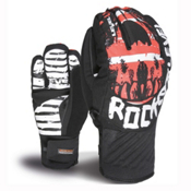 Level Rocker Gloves, White-Red, medium
