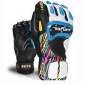 Level SQ CF Ski Racing Gloves, Pk Rainbow, medium