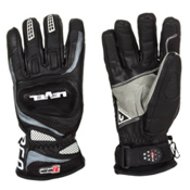 Level Race CF Ski Racing Gloves, Black, medium